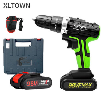 XLTOWN 21V Multifunction electric screwdriver household cordless electric drill Rechargeable electric screwdriver with 2 battery xltown 88vf impact drill multi function electric screwdriver rechargeable lithium battery household hand drill cordless drill