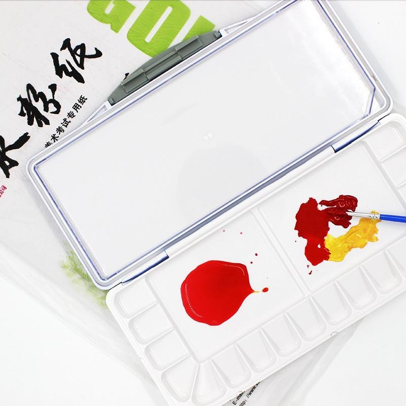 Superior 18/23/32 Grids Seal Water Color Painting Palette Plastic Watercolor Art Palette Box Supplies Paleta Acuarela