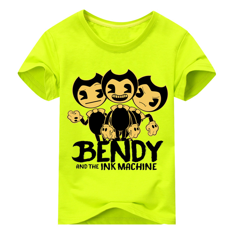 Kids Smiling Face Blouse Shirt Bendy And The Ink Machine Cotton Costume Tee Tops