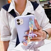 Cartoon Handgelenk Kette Telefon Fall für Xiaomi mi mix 3 2s 2 / max 3 2 / 8lite 8SE 8 / 6X 6 5X Abdeckung nette bär Silikon Fall
