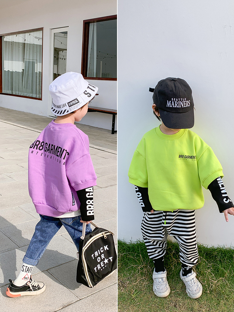 15.6US $  Pullover Sweater Baby Spring   Children 2020 Chichi Top Boys Korean Version of the Wave Sp...