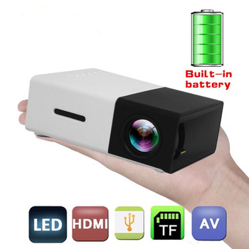 Żarówka jak YG300 obiektyw Led projektora 1080P ekran projektora 80 cal проектор YG300 Mini projektor kina domowego Mini projektor ekran projektora tanie i dobre opinie Unic Instrukcja Korekta Projektor cyfrowy 16 09 50 Ansi Brak 320*240 Led light Below 1000 1 Rozrywki Projektora Rzucanie