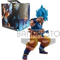 BANDAI Original Dragon Ball Super Broly Blue Goku 20th Anniversary Figure Japanese Anime Collectible Action Figure Model