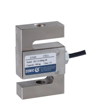 Zemic S type load cell alloy steel material H3-C3-500KG-3B 200kg 300kg hook scales belt scales weighing sensor guang ce yzc 516c load cell s type tensile pressure sensor load cell 100kg 200kg 300kg 500kg 1t 1 5t 2t weighing sensor