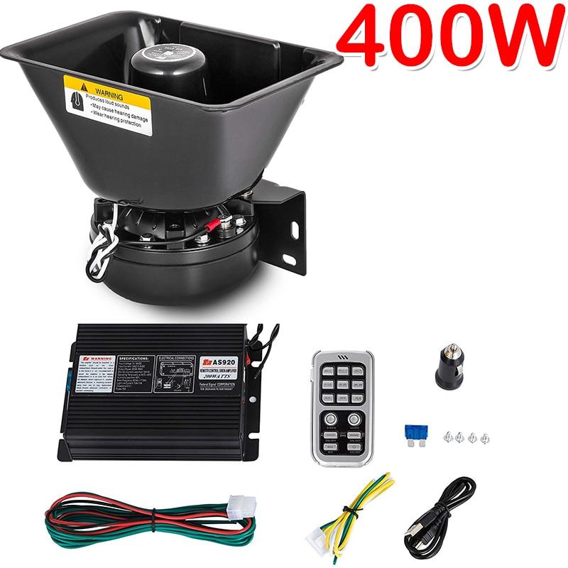 400 Вт 16 звуковая Автомобильная сирена спикер Предупреждение ющая сигнализация полицейская сирена Рог скорой помощи аварийный электронный ...