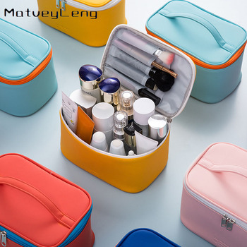 New PU portable cosmetic bag portable cosmetic box large capacity storage bag cosmetic storage bag