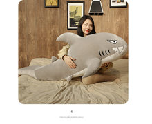 large 150cm cartoon shark plush toy dark blue or gray shark soft doll hug pillow Christmas gift b1725(China)
