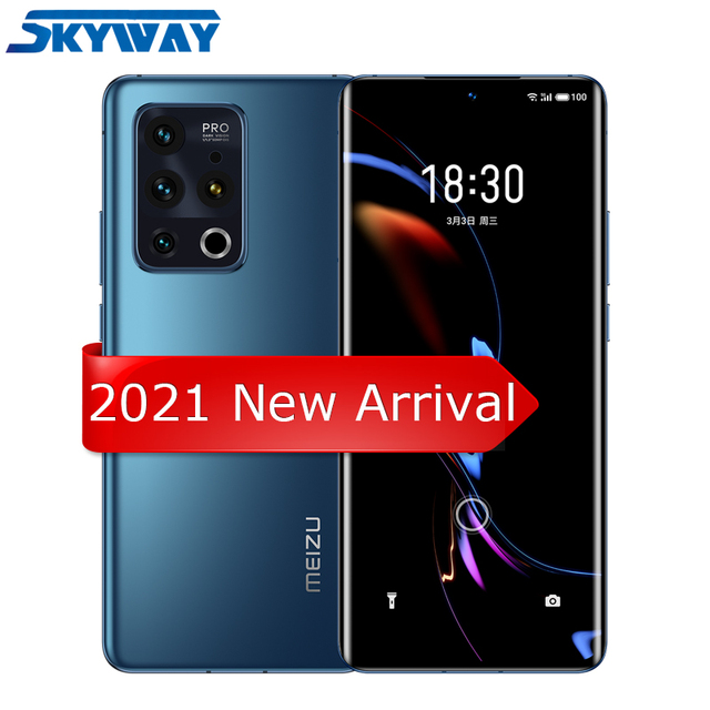 "2021 Original Meizu 18 Pro 5G Smart Phone Snapdragon 888 Octa Core 6.7"" Quad HD Screen 40W Fast Charger 8GB 128GB Cell Phone 1"