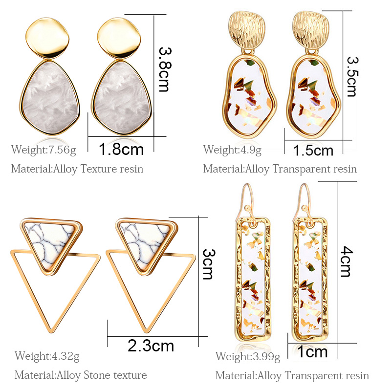 H85162aca71554848b1205af744288007y - New Statement Drop Earrings For Women Fashion Gold Earrings Acrylic Geometric Red Dangle Earring Wedding Brinco Jewelry