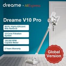 Dreame V10 Pro aspirateur à main sans fil 450W 22000Pa aspiration Cyclone filtre sans fil dépoussiéreur tapis acariens nettoyage