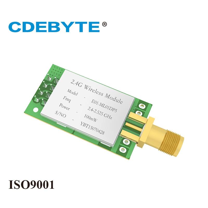 Ebyte E01-ML01DP5 2.4GHz NRF24L01P IoT RF Module Nordic NRF24L01 PA LNA 20dBm 100mW  2.4g Transceiver