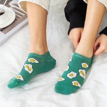 summer Korean style ladies socks slippers female cartoon socks cute animal ankle socks cotton stealt