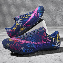 Man Women Track Field Sport Shoes Spikes Shoes Athlete Running Soft Tracking Shoes Mens Spike Sneakers Plus Size 35-46