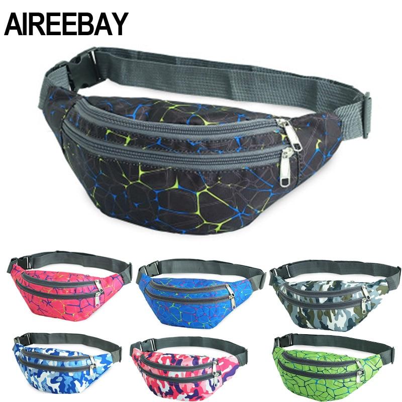 AIREEBAY Fanny Pack Men Belt Bag Women Fashion Waist Bags Travel Bum Bag Purse Women Fashion Chest Bag Waterproof Crossbody Bags