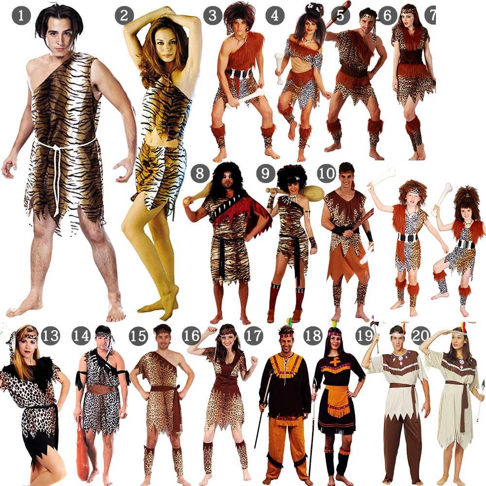 Halloween Cosplay Women Leopard Savage Caveman Flintstones Primitive Indian Clothing Costume Carnival Costumes For Women Fancy