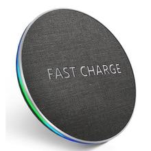 GETIHU cargador inalámbrico Qi de 10W, almohadilla de carga inalámbrica rápida para Samsung S11 S10 Note 10 9 8, iPhone 11 Pro X Xs Max Xr 8 Plus