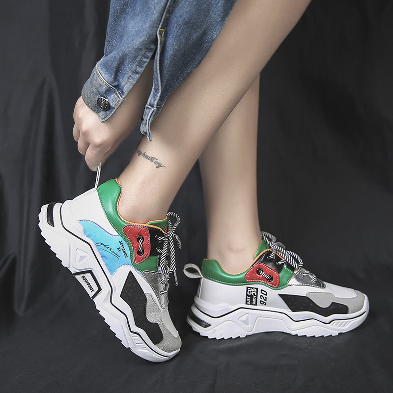 White Shoes Woman Tenis Feminino New Fashion Chunky Sneakers Women Zapatillas Mujer Designer Platform Dad Shoes Chaussures Femme