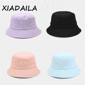 Sombrero de pescador negro y blanco liso Unisex, Gorros de Hip Hop, sombrero de verano para hombre y mujer, sombrero Panamá para playa, sol, pesca, boonie