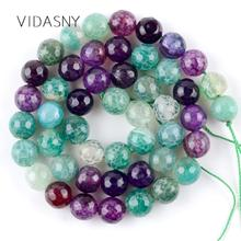 Natural Stone Green Purple Faceted Dragon Vein Agates Beads For Jewelry Making 6 8 10mm Loose Beads Diy Bracelet Necklace 15'' цена