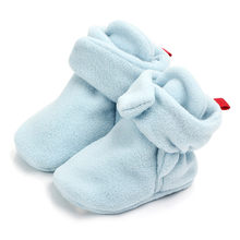 Newborn Baby Socks Shoes Boy Girl Star Toddler First Walkers Booties Cotton Comfort Soft Anti-slip Warm Infant Crib Shoes(China)