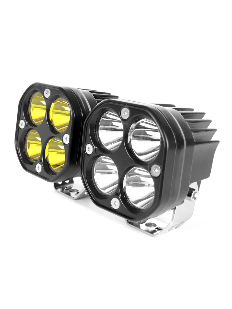 Work-Light Fog-Lamp Tractors Square 3inch Led Car-Yellow Motorcycle Off-Road 4x4 24V