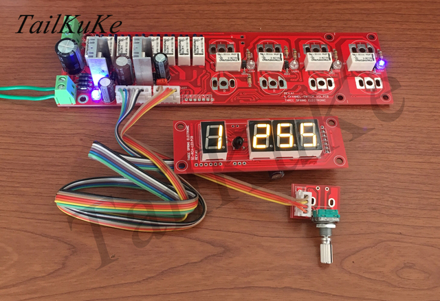 릴레이 볼륨 보드 HIFI 볼륨 컨트롤러 (디스플레이 포함) 원격 볼륨 패널 (입력 스위칭 포함)