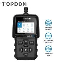 Topdon artilink 500 obd2 сканер al500 авто двигатель eobd читатель