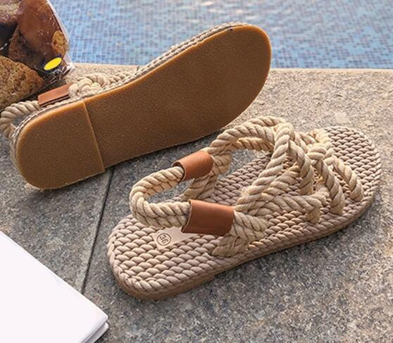 2020 New Sandals Women's Shoes Braided Rope Casual Style Fashion Sandals Women Summer Sandals
