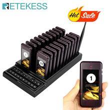 Retekess T111 Ristorante Cercapersone Senza Fili di Chiamata di Paging del Sistema di Accodamento cameriere sistema di chiamata per il ristorante sistema di chiamata cercapersone