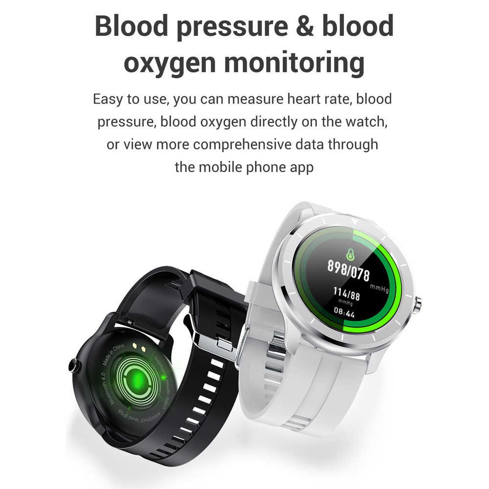 Full Touch Screen Intelligente Orologio AI Fronte Della Vigilanza di Frequenza Cardiaca Monitor IP68 Impermeabile Smartwatch Uomini Per Huawei Xiaomi IOS GTR telefono