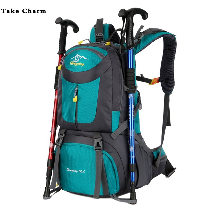 40/50/60L mochila de senderismo de gran capacidad hombres mujeres al aire libre escalada de montaña Mochila deportiva mochila de viaje de ocio