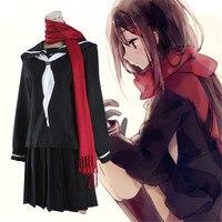 Anime MekakuCity Actors Kagerou Project Tateyama Ayano Costumes Cosplay School Uniform Halloween Costumes