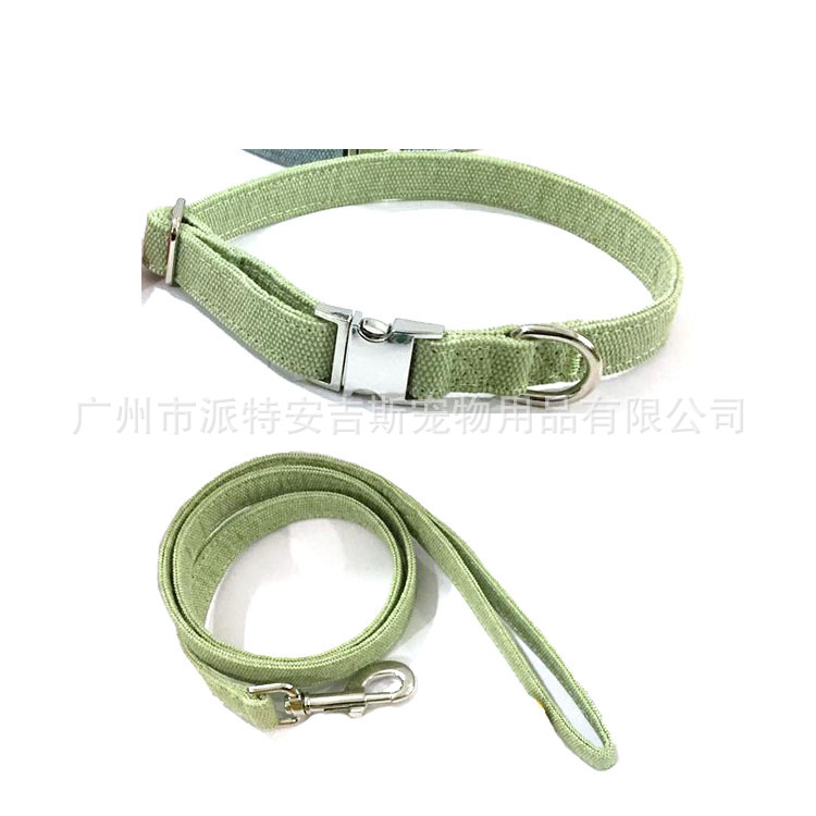 Hot Sales Double Layer Pet Collar Top Grade Metal Buckle Neck Ring Dog Neck Ring Hand Holding Rope