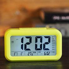 Despertador digital com tela lcd alarme digital com sensor soneca mesa estudantes casa decoração df50ac