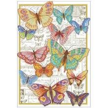Бабочки красоты шаблоны для вышивки крестом 11ct 14ct 18ct diy