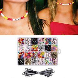 Acryl Kralen Set Kinderen Speelgoed Accessoires Meisjes Mix Kleur Spacer Kralen Kids DIY Armband Sieraden Maken