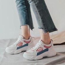 Women Shoes 2018 New Autumn Casual Mesh Platform Sneakers Ladies Running Leisure Footwear
