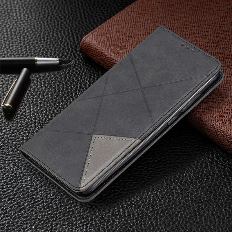 Geometric Magnetic absorption Leather Case Wallet Cover For Huawei Mate 30 Lite Flip Card Holder Stand Book For Mate 30 Pro Case