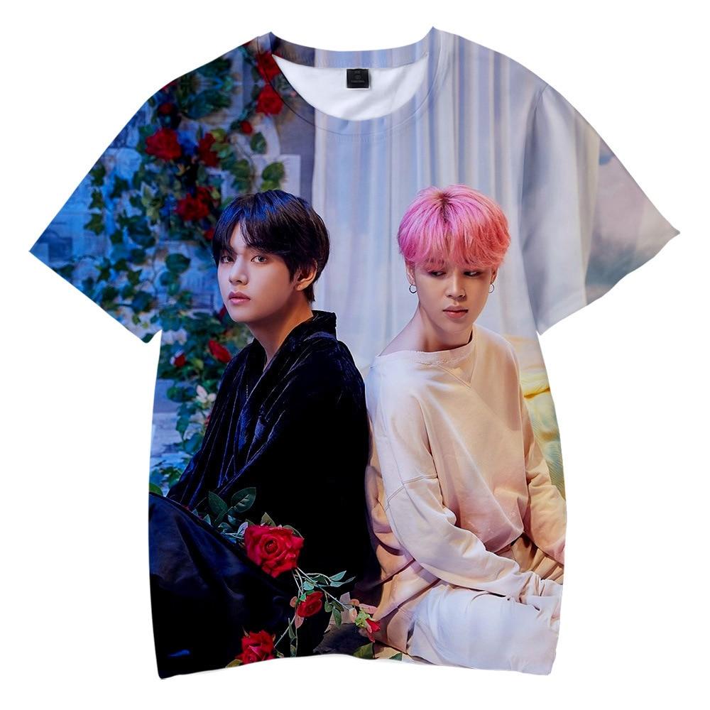 New Korean Fashion Harajuku Streetwear 3D Kpop T Shirt Men/women Hip Hop K-pop Tshirt Female Short Sleeve 3D Kid Tee Shirt Femme