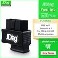 JDiag Faslink M2 Scanner Bluetooth 4.2 OBD2 | Moteur de vérification  lecture de code lumineux  Compatible avec iPhone iOS et Android