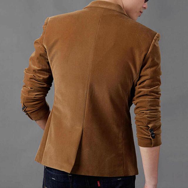 2020 New Korean Men Blazer Casual Slim Fit Office Suit Autumn Spring Jacket Coat Formal Masculina Blazer Men's Business Blazers