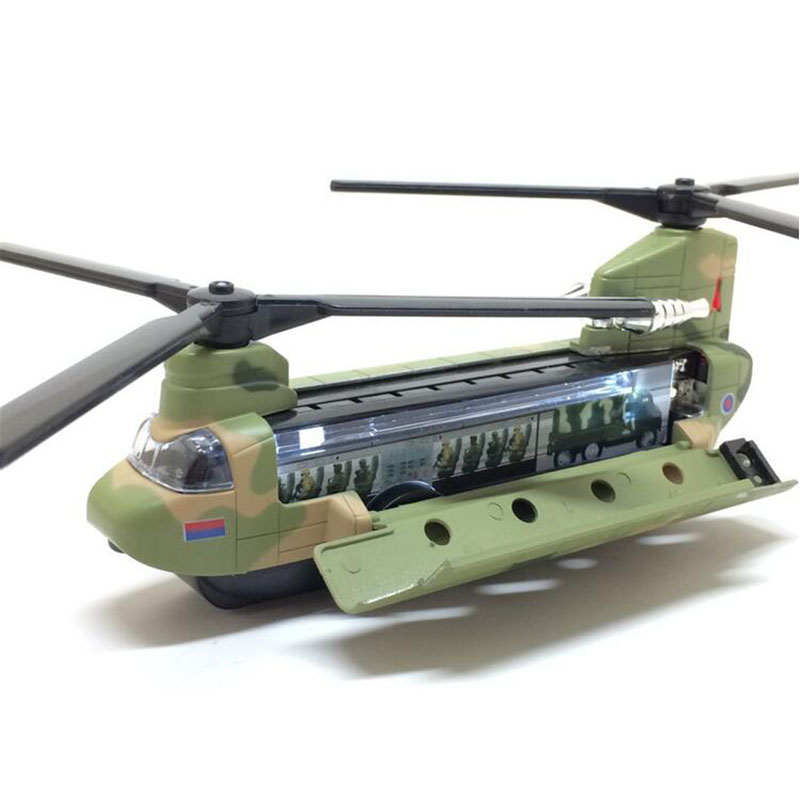 14CM Chinook US Rescue transport aircraft helicopter Millitary modelArmy fighter airplane model adult children Toy military Show image