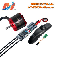 Tüketici Elektroniği'ten Tahrik'de Maytech 3 adet 6355 230KV fırçasız motor 12 s/SuperESC için VESC dayalı/uzaktan kumanda kaykay
