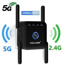5g/2.4g wifi repetidor roteador amplificador extensor de longo alcance 1200m/300mbps impulsionador sem fio em casa wi-fi sinal ap wps eesy configuração