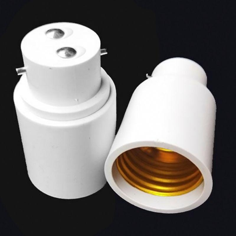 B22 To E27 Lamp Adaptor Connector Light Base Screw Light Bulb Socket Flame Retardant Bakelite Durable Safe Non Electric Leakage