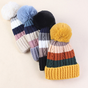 Image 5 - Winter knitted hats for Women Knitted Hats Winter Beanies Hats  Beanies Women Female Caps Womens Winter Women Hat Warm Winter