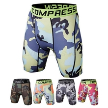 Shorts Compression-Tights Muscle-Alive Fitness Bodybuilding Gyms Workout Male Men Inseam