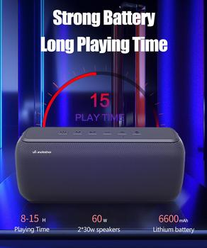 XDOBO X8 60W Portable bluetooth speakers with subwoofer wireless IPX5 Waterproof TWS 15H playing time Voice Assistant Extra bass 6