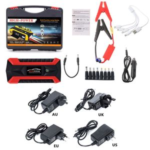 High Quality New 4 USB Portable Car Jump Starter Pack Booster Charger Battery Power Bank 89800mAh