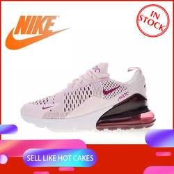 Оригинальный Nike Оригинальные кроссовки Air Max 270 женские кроссовки спортивная обувь Спорт на открытом воздухе бег дышащие удобные прочные